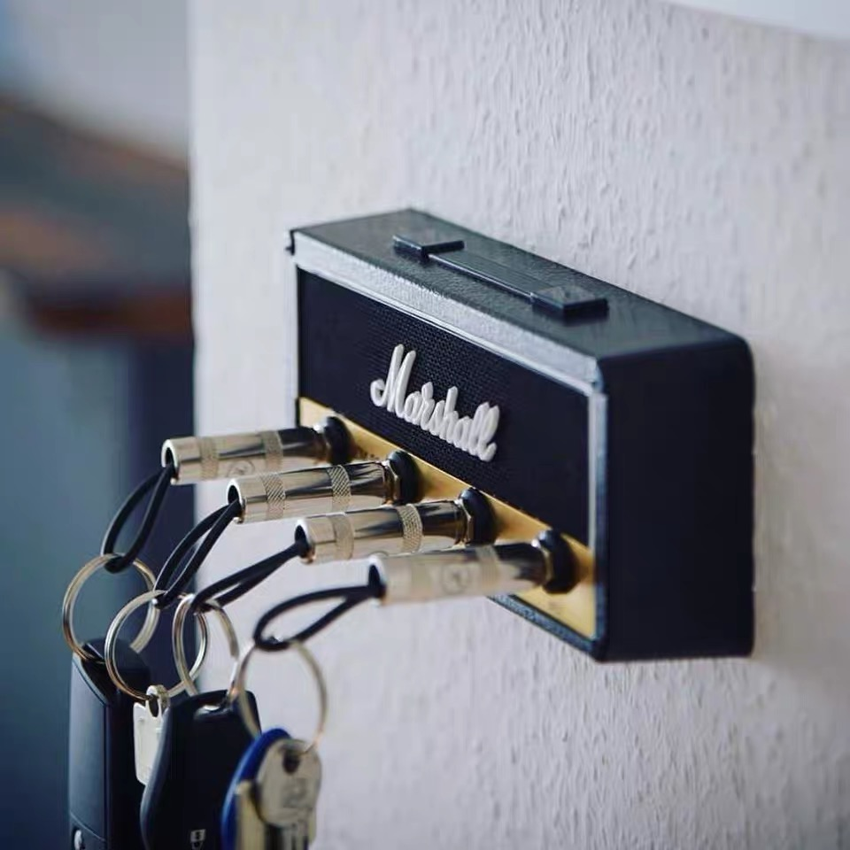 Marshall Key Holder Wall Key Storage Marshall Guitar Keychain Hanger Jack II Rack 2.0 Key Rack Amp Vintage Amplifier JCM800