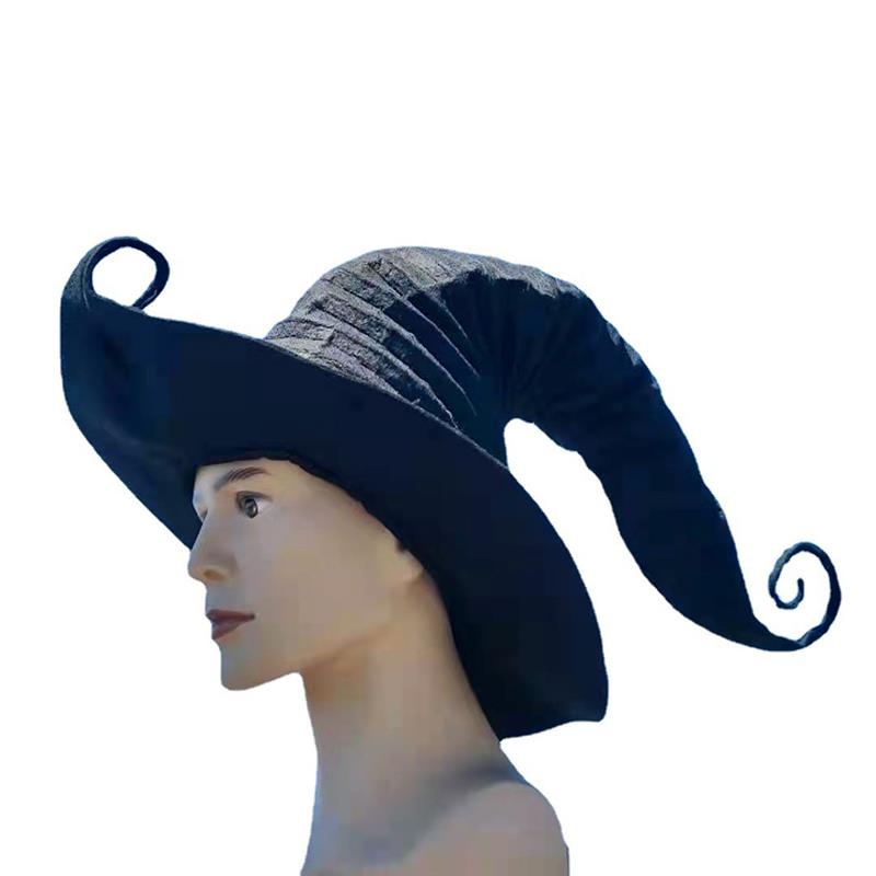 Halloween Felt Witch Hats Cosplay Pointed Hat For Halloween Party Decor Felt Hat Cosplay Head Decor Costume Props Hair Accessory