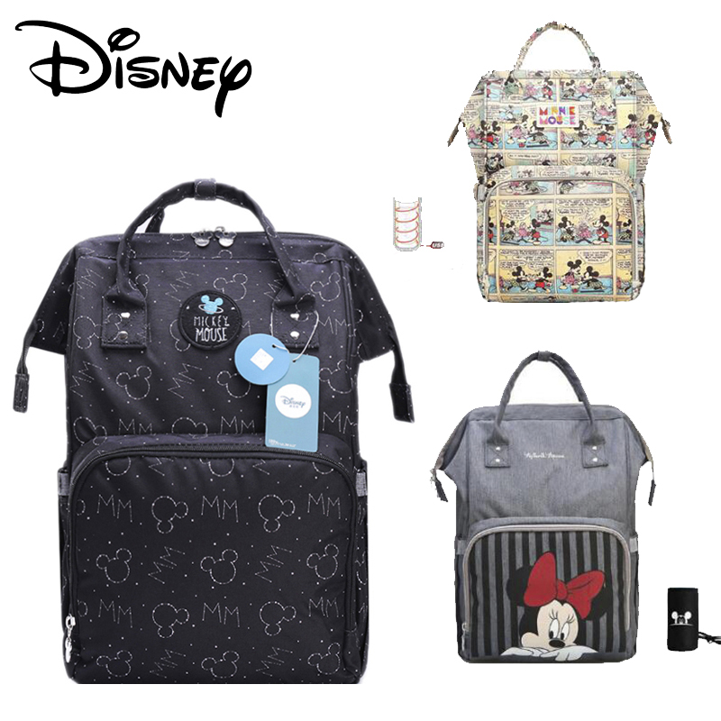 Disney Mummy Usb Diaper Bag Backpack Maternity Baby  Nappy Multifunction Large Capacity Stroller New