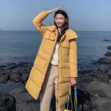 KUYOMENS New Thick Cotton Padded Parka Women Winter Jacket Fashion Hooded Warm Slim Overcoat Coat Elegant Female