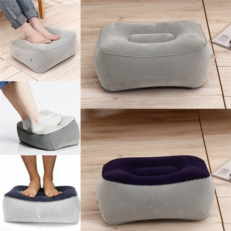 2019 Newest Hot Fashion Sale Inflatable Foot Rest Pillow Cushion Air Travel Office Home Leg Up Footrest Relax
