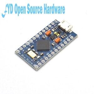 Image 4 - 1 pces pro micro atmega32u4 5v 16mhz substituir atmega328 para arduino pro mini com 2 cabeçalho do pino da fileira para leonardo mini interface usb