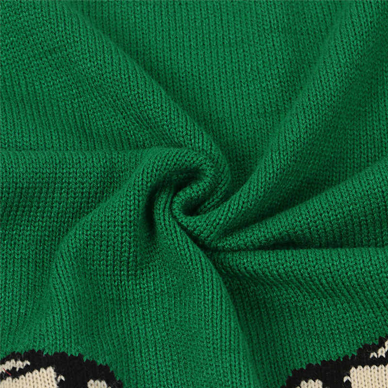 女性の冬 2020 暖かいニットプルオーバー韓国長袖ウールチュニックヒョウのセーターセクシーなグリーンのセータープルオーバー