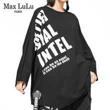 Max LuLu ropa de estilo coreano para mujer, Tops para mujer, camisetas Kawaii holgadas estampadas, camisetas informales de talla grande 2019