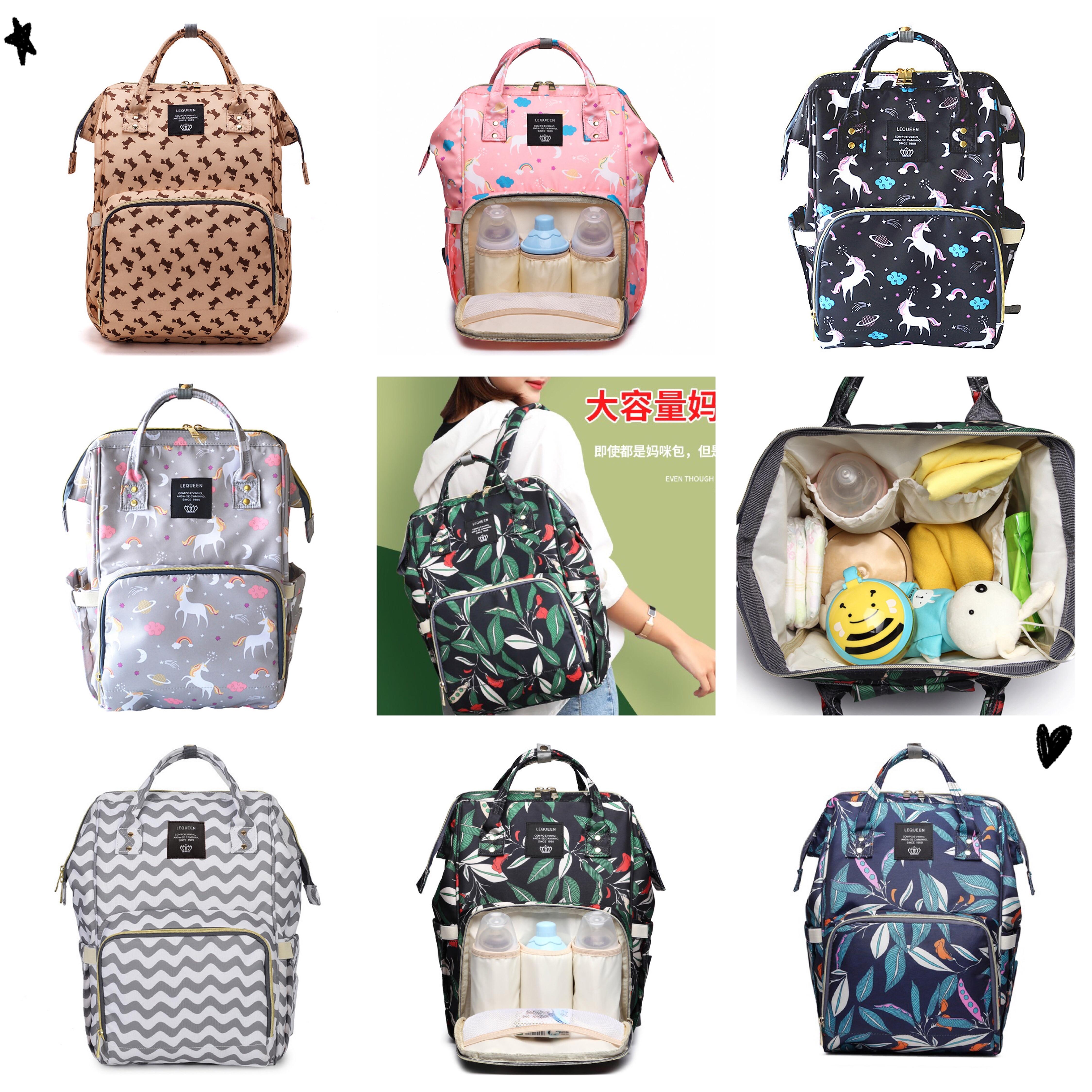 26*17*40cm Oxford Cloth Mother And Baby Backpack Shoulder Diaper Waterproof Baby Travel Backpack Nursing Bag For Mother Handbag