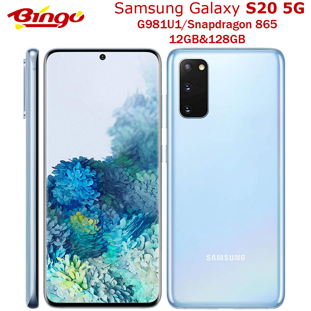 "Samsung Galaxy S20 5G G981U1 128GB desbloqueado teléfono móvil Original Snapdragon 865 Octa Core 6,2 ""Triple cámaras 12GB de RAM NFC"