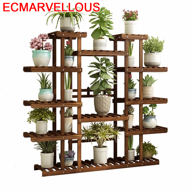 Soporte Interior Terraza Estante Mueble Para Plantas Wood Rack Balcony Flower Shelf Dekoration Stojak Na Kwiaty Plant Stand