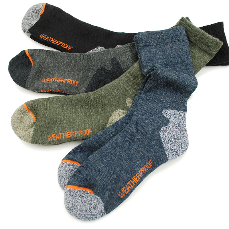 Men's Merino Wool Fleece Sock Woolen Thermal Warm Winter Athletics Breathable Socks For Male 41-46
