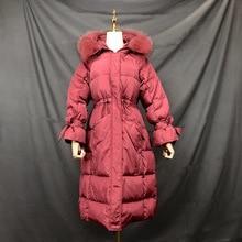 Loose Korean Winter Down Jackets With Real Fur Hood Coat Women Puffer Long Female Warm Autumn Feather Jacket Parka Coats Duck недорого
