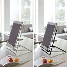 Multifunction Geometric Wrought Iron Storage Rack Tablet Book Display Organizer Y5GE