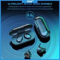 JTKE-auriculares TWS Y30 con Bluetooth 5,0, dispositivo de audio 3D HD, táctil, con huella dactilar, graves táctiles, impermeable, a prueba de sudor, para deporte y juegos