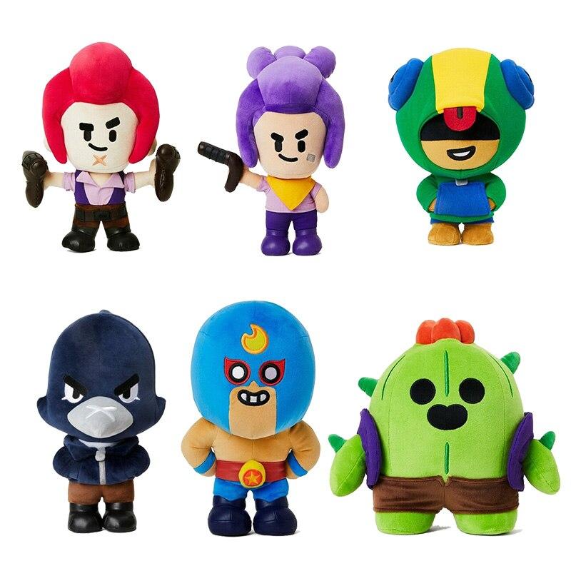 Плюшевые игрушки-куклы с героями мультфильмов «Звездные герои», «Леон Кроу», «Спайк», игрушки, аниме-фигурки, куклы для мальчиков, рождестве...