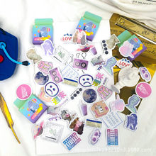 Korean ins Steam Wave Box Stickers Scrapbooking Decorative marking note Decorative Sticker DIY Scrapbooking Label Diary Album(China)