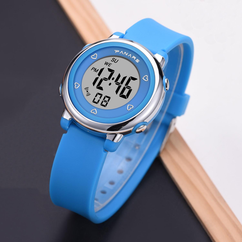 SYNOKE Fashion Digital Children Kids Wristwatch Boys Girls Silicone Strap 3M Life Waterproof Led Sport Watch Alarm Clock Gift
