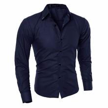 Новые мужские рубашки, мужская рубашка, Бизнес Стиль, длинный рукав, отложной воротник, мужская рубашка, приталенная, популярный дизайн, Азиатский Размер, M-5XL