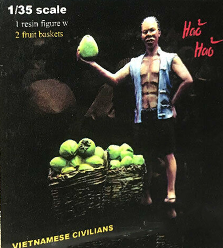 1/35 Ancient Civilians - Fruit Man  Resin Figure Model Kits Miniature Gk Unassembly Unpainted