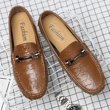 CIMIM Brand Mens Shoes Genuine Leather Business Office Shoes Big Size Fashion Italy Luxury Loafers 2019 New Casual Shoes Hot Sal cheap Split Leather Rubber Spring Autumn Adult 06237 Fits true to size take your normal size Slip-On Solid