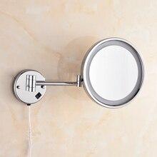 OWOFAN зеркала для ванной 10 в латуни 1 сторона настенный Декор Круглый светодиодный косметический макияж зеркало с освещением аксессуары для зеркала в ванной 2098