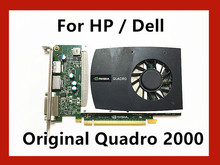 גבוהה באיכות Quadro 2000 1G GDDR5 PCI E 16X כרטיס גרפי מקצועי עבור HP / Dell Q2000 וידאו כרטיס
