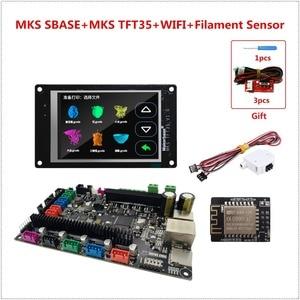 Image 1 - MKS SBASE + MKS TFT35 lcd + MKS TFT WIFI + runout filament sensor Smoothieboard 3D printer motherboard + touching LCD display