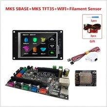 Placa base MKS SBASE + TFT MKS 35 lcd + TFT MKS WIFI + sensor de filamento de gota placa base de impresora 3D Smoothieboard + pantalla táctil LCD