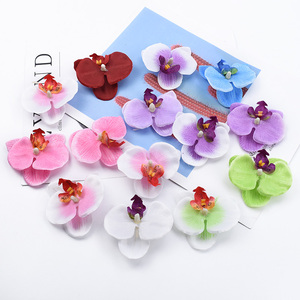 20/50 Pieces Butterfly orchid flowers for scrapbooking diy gifts box decorative flowers wedding bridal brooch artificial plants