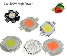 High Power LED Chip 1 W 3 W 5 W 10 W 20 W 30 W 50 W 100 W COB SMD LED koralik biały RGB UV rosną pełne spektrum 1 3 5 10 20 30 50 100 W Watt