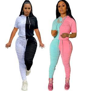 2020 осенний Модный комплект для бега размера плюс из 2 предметов, женский спортивный костюм, костюм для отдыха, женская одежда, спортивные кос...