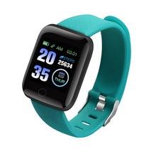 Смарт-часы браслет фитнес-трекер сообщения напоминание цветной экран водонепроницаемый спортивный браслет для мужчин и женщин