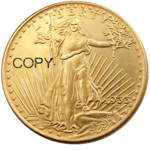 US 1933 $20 Dollar Saint Gaudens Double Eagle Gold Plated/Copper Copy Coin(With Copy Word On The Back)