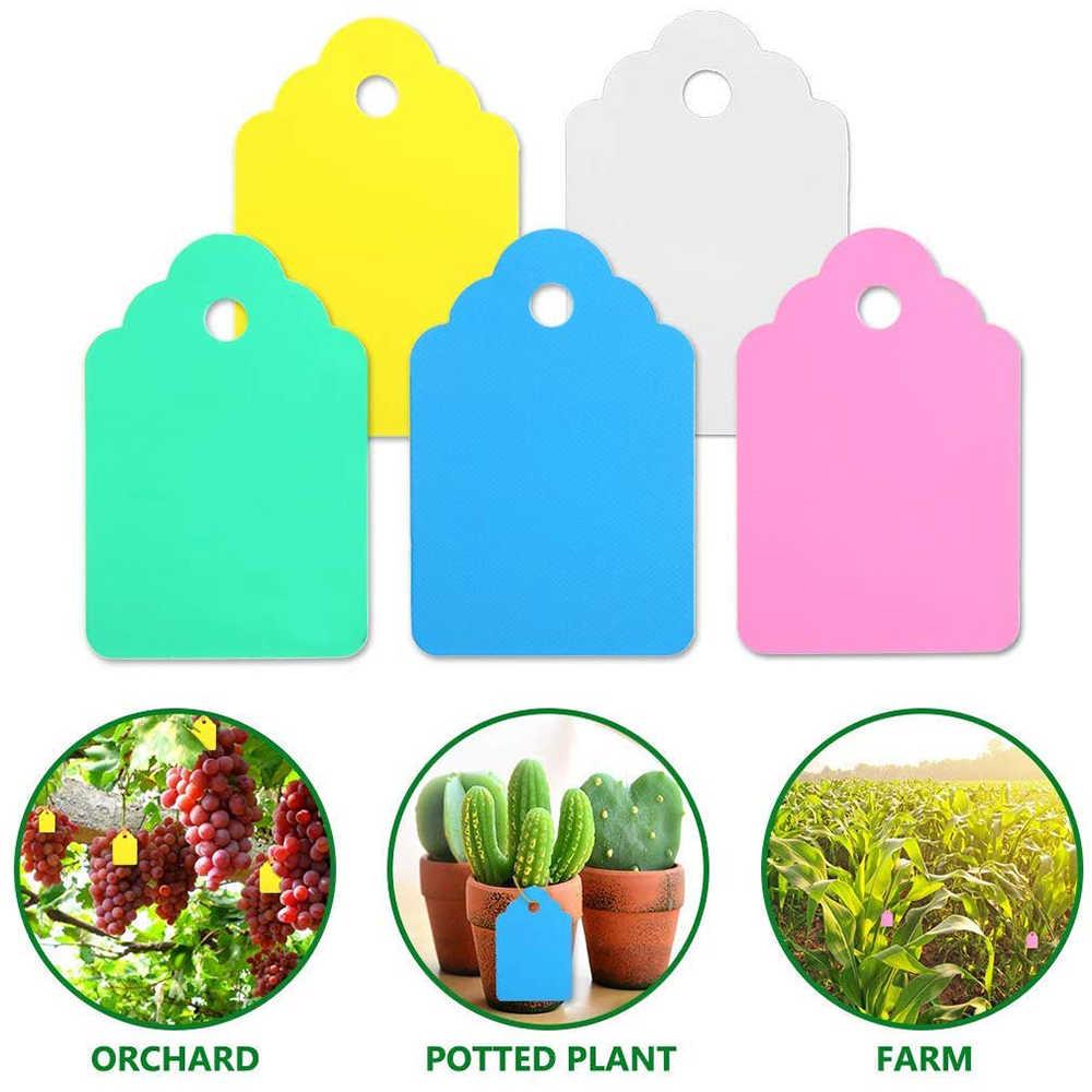 100 adet/grup bitkiler giysi etiketi etiketleri fide bahçe saksı plastik etiketler plaka asılı kullanımlık PVC bahçe aletleri GT057