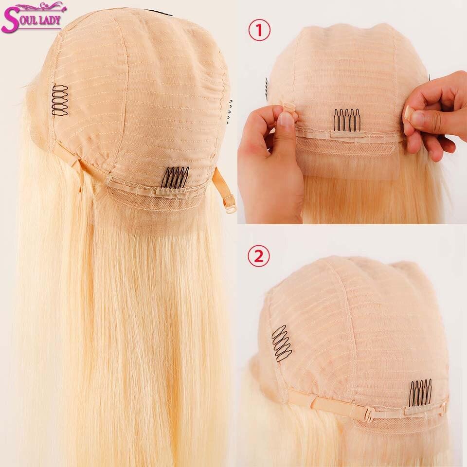 613 Honing Blonde Lace Front Pruik 13X4 Lijmloze Rechte Kant Voor Pruik 180% Braziliaanse Remy Menselijk Haar Transparante hd Lace Pruik - 5