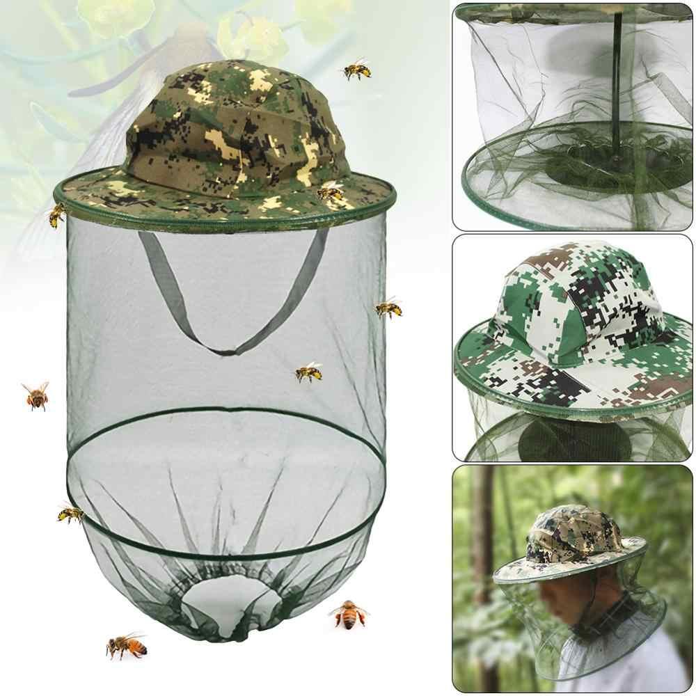 Esterna Di Sopravvivenza di Bug Anti Mosquito Ape Insetto Cappello di Maglia Testa Viso Netto Per La Pesca Caccia Escursioni A Piedi Attrezzature di Protezione