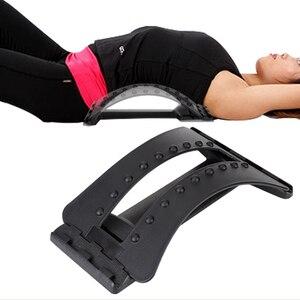 Masajeador negro de espalda, equipo de Fitness, estiramiento Lumbar, Dropship, camilla de relajación, masajeador, soporte para alivio del dolor R7X5