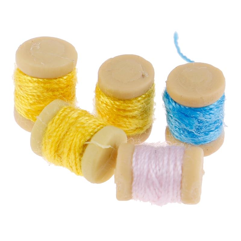 1/12 Dollhouse Miniature Accessories Mini Sewing Thread Model Toys For Doll House Decor 1/12 Dollhouse Miniature Accessories
