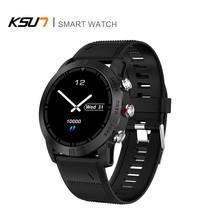 Reloj inteligente deportivo IP68 para hombre y Android, dispositivo portátil con control del ritmo cardíaco y resistente al agua