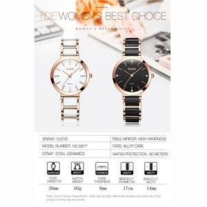Image 5 - OLEVS Top Brand Luxury Quartz Women Watches Withe WristWatch Life Waterproof Clock Gift Watch For Womens Ladies Relogio Feminino