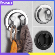 Robe Hook Black Stainless Steel Bathroom Hook for Towels Key Hat Clothes Bag Hanger Entry Rotation Coat Hooks Rack Wall Mounted robe hook black clothes coat hook wall hanger decorative deer head bathroom hook for towels key bag hat rack bathroom hardware