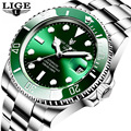 2020 LIGE Watch Men Automatic Mechanical Tourbillon Clock Fashion Sapphire Glass 316L Steel 100 Waterproof Watches men's wrist