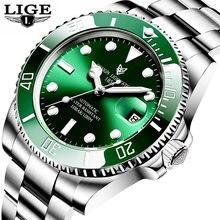 2020 LIGE Watch Men Automatic Mechanical Tourbillon Clock Fashion Sapphire Glass 316L Steel 100 Waterproof Watches NH35 Movement