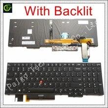 """מקורי עם תאורה אחורית אנגלית מקלדת עבור Lenovo thinkpad E580 L580 L590 P52 P72 E590 E585 E595 T590 P53S 01YP680 01YP640 01YP560 ארה""""ב"""