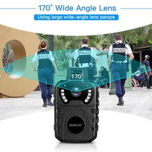 Image 3 - BOBLOV 1080P HD 64GB גוף שחוק מצלמה נייד רב תפקודי 170 ° IR לילה גוף רכוב מצלמה חזון DVR וידאו משטרת מצלמה