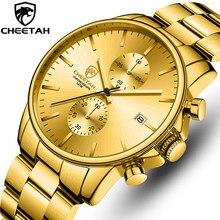 CHEETAH – montre-bracelet à Quartz pour hommes, horloge dorée, chronographe, étanche, Date, Sport, Top marque