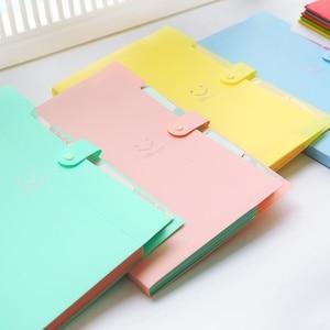Image 5 - 3Pcs Leuke A4 Bestandsmap Snoep Kleur Document Oranganizer 5 Pockets Student Mappen Voor School ZCX 0001 3