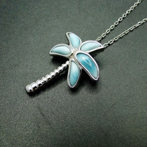Image 5 - High Quality 100% 925 Sterling Silver Larimar Coconut tree pendant Necklace Party Jewelry for Women