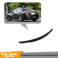 Para W222 alas de Spoiler trasero de fibra de carbono para mercedes-benz S clase W222 S400 S500 S600 Spoiler 2014-2019
