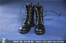 FA-18-04A 1/6 skala mężczyzna 6 otwory buty do kostek Model mężczyźni czarne buty nadające się do 12