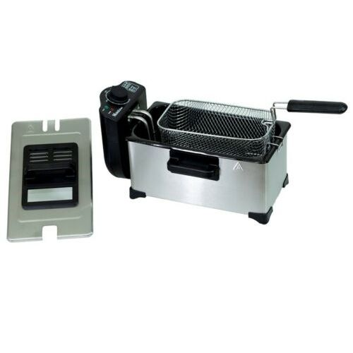 ELECTRIC FRYER 3.5L STAINLESS STEEL 2000W WITH WINDOW ON TOP WARANTY