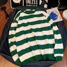 Striped Hoodies Men Fashion Contrast Casual Hoody O-Neck Pullover Streetwear Hip Hop Hoddies Loose Sweatshirt Male Hoodie