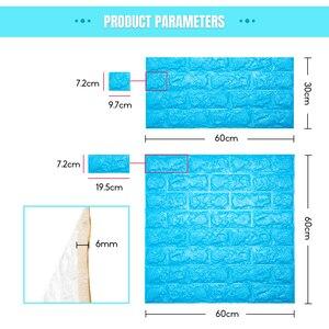 Image 3 - 3D Wall Stickers Imitation Brick Bedroom Decor Waterproof Self adhesive Wallpaper For Living Room Kitchen TV Backdrop Decor